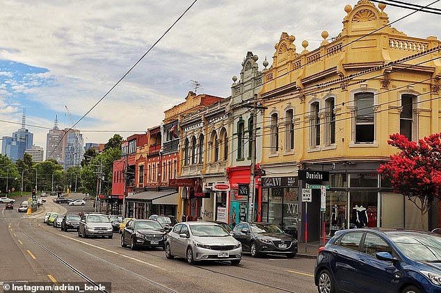 Richmond (pictured) was dubbed the 10th coolest neighbourhood in Australia in Time Out's latest annual ranking
