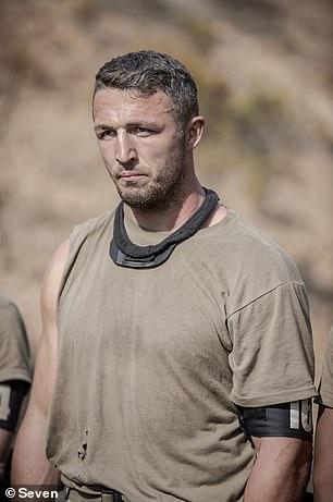 Frontrunner: Former NRL star Sam Burgess is one of the final five recruits on SAS Australia