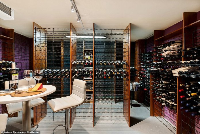 Beneath the property is a temperature-controlled wine cellar with enough space to store 3,000 bottles