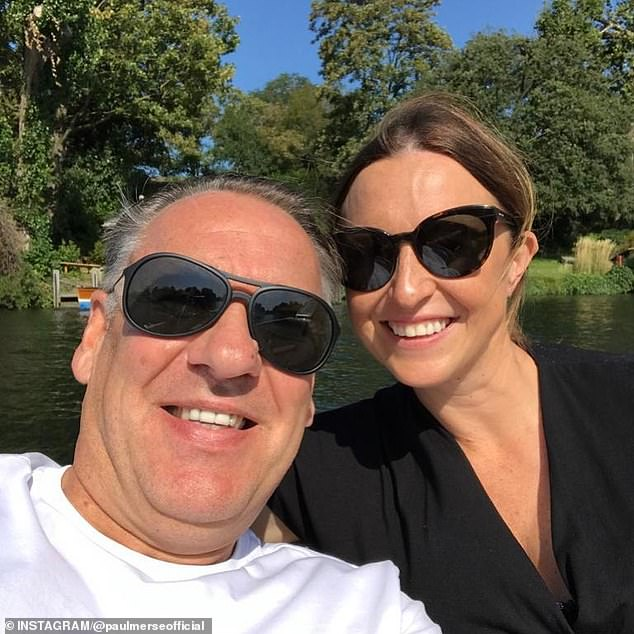 Merson, pictured with wife Kate, who now has to control the amount of money he has