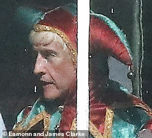 Transformed:The actor, 55, has taken on the role of Jimmy Savile