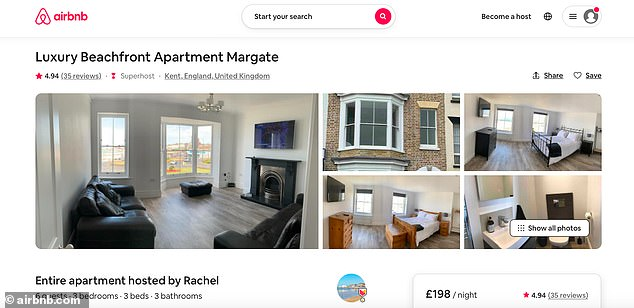 Margate's increased attention from holidaymakers has come with a huge rise in rental properties with the area now having more than 300 Airbnb homes