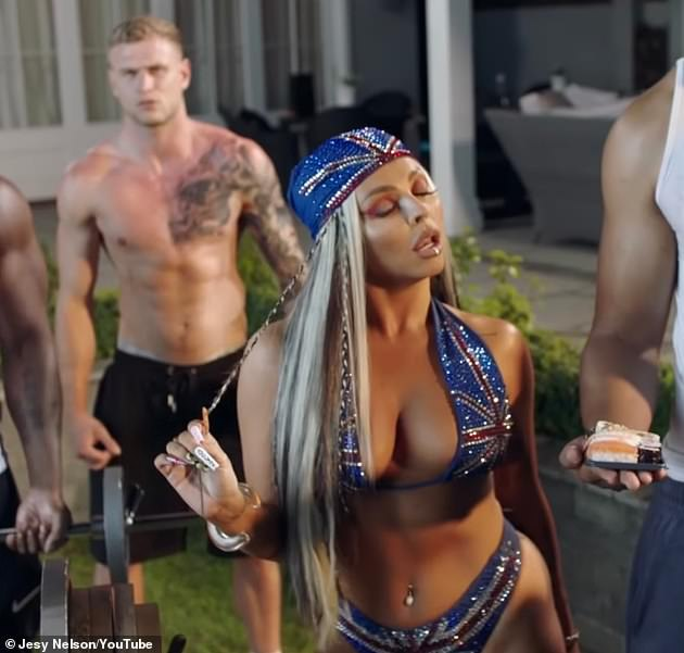 New release: Jesy's new single is a remake of Diddy's 2001 video Bad Boy For Life, which she samples in her new track - but she has been accused of blackfishing