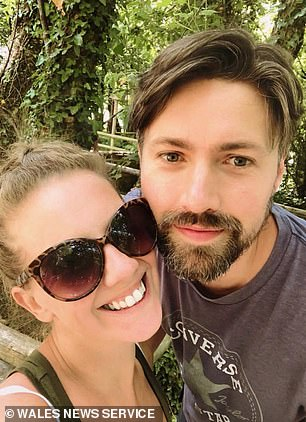 Kelly Pendry with her husband Michael whom she calls her 'rock'