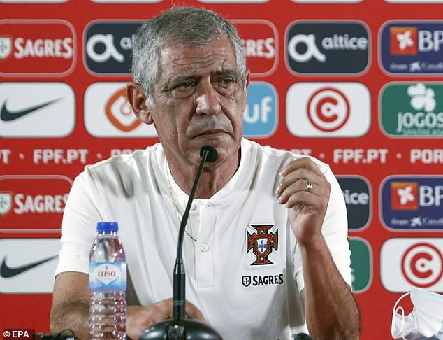 Portugal boss Fernando Santos has revealed Jota could be sent back to the Reds soon