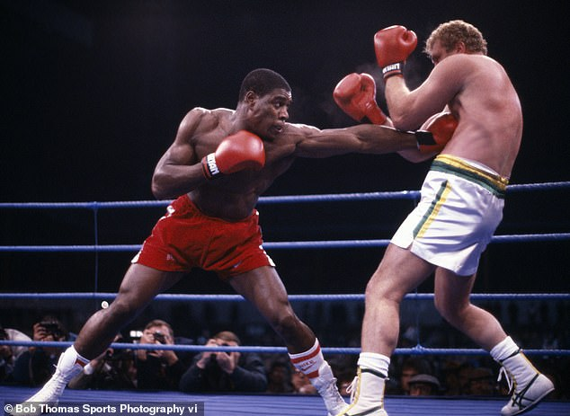 Frank Bruno (left) in action against Joe Bugner in 1987, fourth on the list of British greats