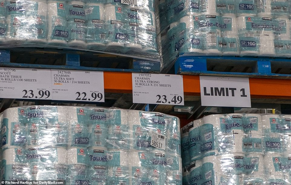 CONNECTICUT: The Costco in Norwalk, Connecticut, is limiting shoppers to one multipack of toilet paper too