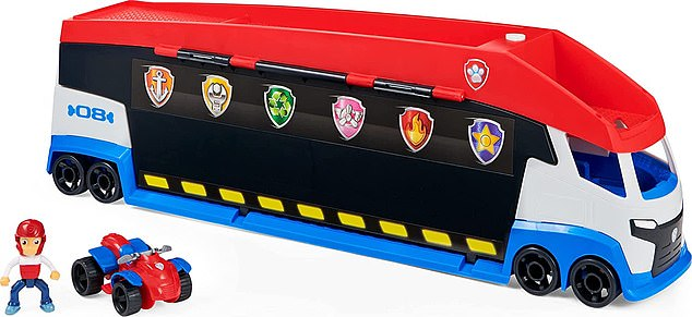 Press the button on the side of the PAW Patroller 2.0 for an exciting door transformation—the sides pop open and lift up, revealing dual vehicle launchers inside. It retails at£55.99
