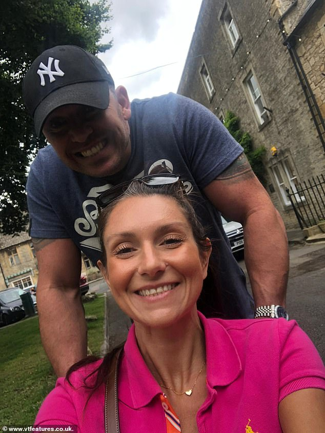 Wheelchair-bound, Natalie decides to take an overdose of prescription painkillers.  Pictured: Natalie and her husband
