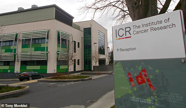 A study by experts from the Institute of Cancer Research (pictured) and the Royal Marsden Trust found that a new cancer treatment can destroy tumors in patients who have an incurable disease.