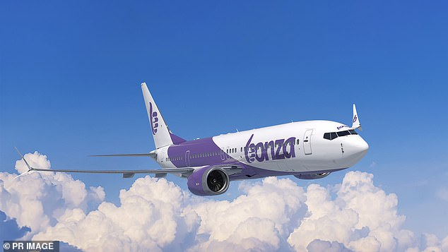 Australia is soon to get a brand new domestic airline called Bonza (pictured, a Bonza plane)