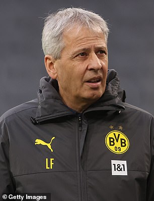 Lucien Favre, 63, was shown the door by Dortmund at the end of last season