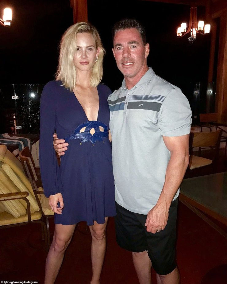 Meghan King and Jim Edmonds pictured together in a photo posted to her Instagram account