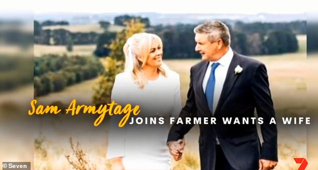 Their story: Sam married equestrian businessman Richard, 60, at his country estate in the NSW Southern Highlands on New Year's Eve