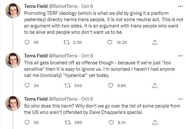 , Netflix suspends trans engineer after tweeting that Dave Chappelle's biopic had put lives at risk, Nzuchi Times National News