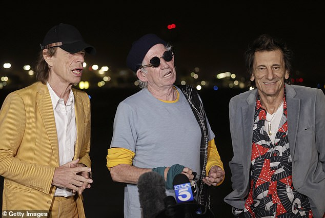 Trying To Move On: The Rolling Stones began their North American tour earlier this month, but sympathy for the Devil hitmaker admitted that he and his bandmates still aren't used to being on stage without the late drummer .