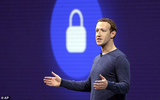 Mr Knight also described Facebook as 'a bit of a cult' which appeared to have a 'different agenda' to its social media rivals. He said this came from its boss Mark Zuckerberg (pictured)