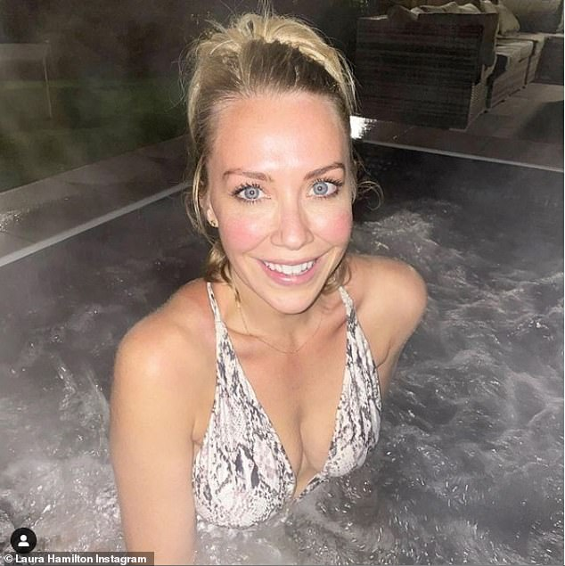 , A Place In The Sun host Laura Hamilton stuns in a snake print bikini as she takes a dip in a hot tub, The Habari News New York