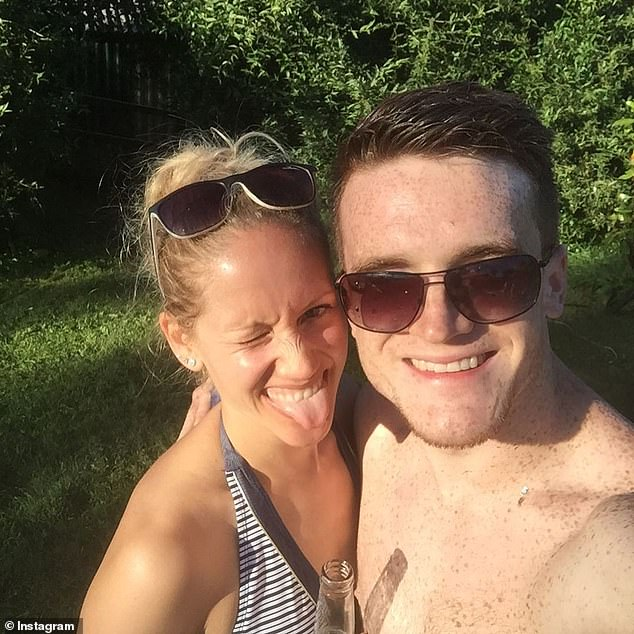 David's death was confirmed by British Swimming and Swim England on Monday, although the cause remains unknown (Pictured with wife Melinda)