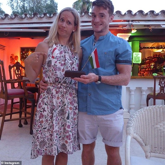 The London Aquatics Centre said David 'inspired and radiated love for the sport', adding: 'David was an incomparable member of the team' (Pictured: David with wife Melinda)