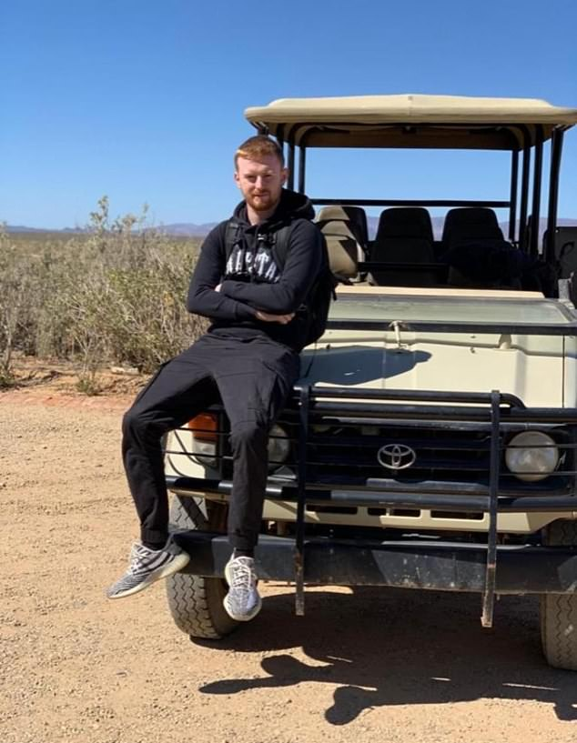 British football coach Billy Hood, 24, from London, (pictured) has been jailed for 25 years in Dubai after four small bottles of vape liquid containing cannabis oil were found in his car