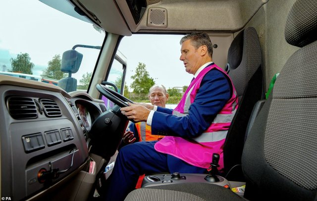 Sir Keir made the comments during a visit to a lorry driver training centre near Oldham, Greater Manchester, today. He also called on the Prime Minister to apologise to the country for his mistakes during the pandemic