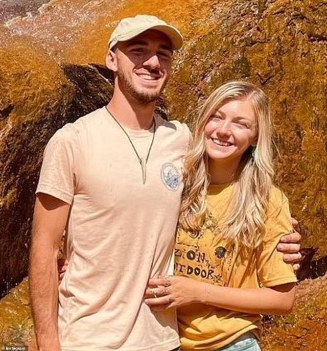 Brian Laundrie and Gabby Petito. He has been on the run for more than three weeks following their doomed campervan trip
