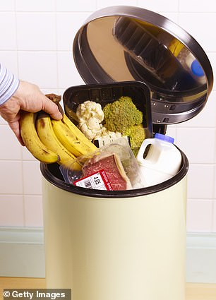 Smartphone app Olio .  The average UK household throws away almost a quarter of their weekly shop, according to