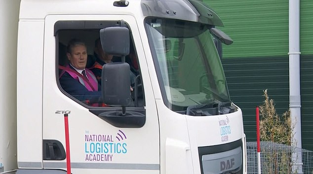 , Keir Starmer crashes lorry while being given HGV-driving lesson in Greater Manchester, The Today News USA