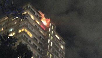 Dozens of firefighters are tackling a blaze that has broken out on the 20th floor of a tower block on Westbridge Road in Battersea, Southwest London