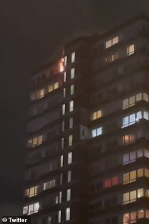 The London Fire Brigade said a woman escaped from the property before rescuers arrived and is being treated for possible smoke inhalation