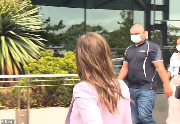 Taitham Cliffe, 25, outside Southport Magistrate's Court after being found guilty of assault over the Gold Coast attack (pictured)