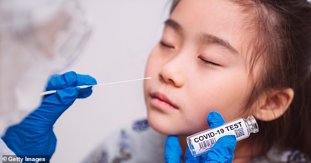 Cases of COVID-19 in children rarely result in serious infection or death, with 2.5% of minors hospitalized and less than 1% of deaths due to the virus (file photo)