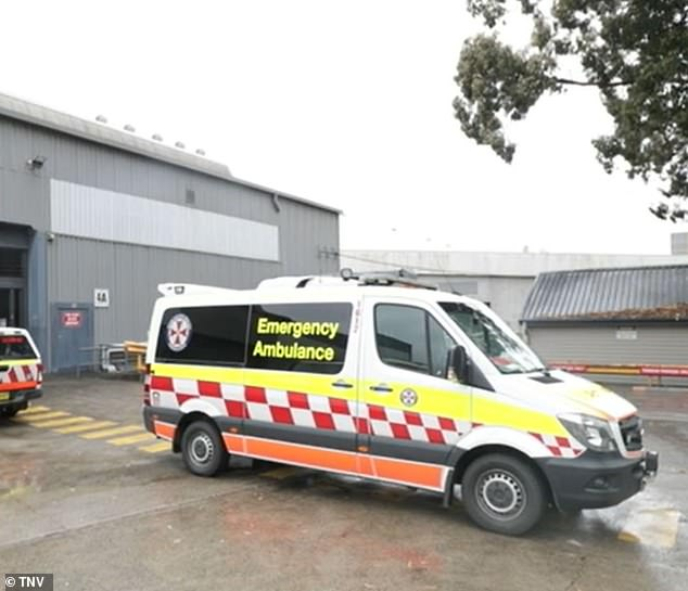Paramedics were called to the indoor climbing centre on Unwins Bridge Road, St Peters, in Sydney's inner west just before 11.30am on Wednesday
