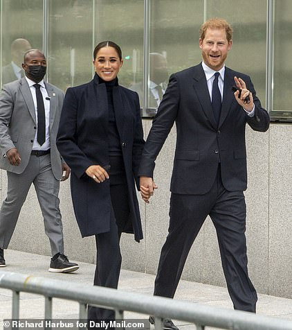 This bodyguard, seen behind Harry and Meghan, told one journalist he was working for the Department of Homeland Security