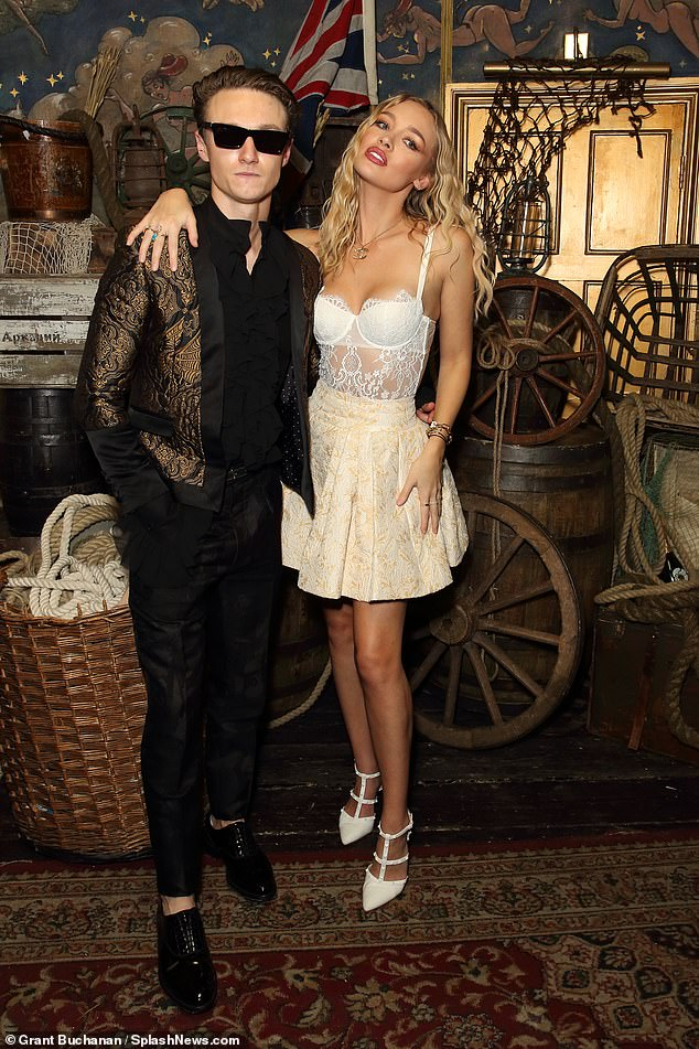 , Roxy Horner showcases her elegant style in see-through lace top and a champagne-hue mini skirt, The Today News USA