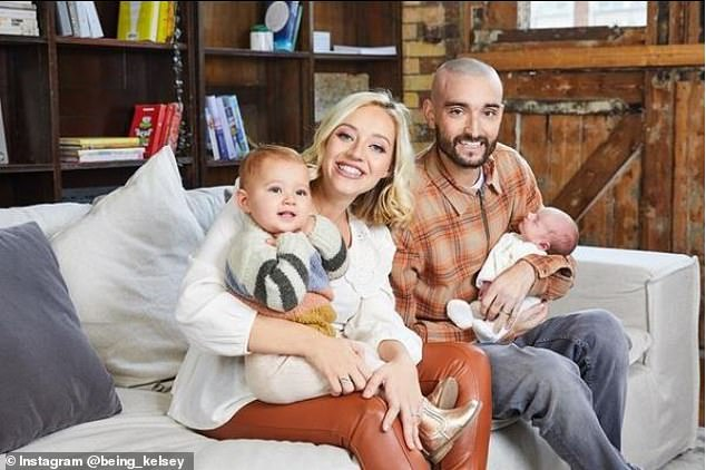 'Taken on the world':Tom also dotingly spoke about his wife, Kelsey Hardwick, whom he shares daughter Aurelia, two and son Bodhi, 11 months, with