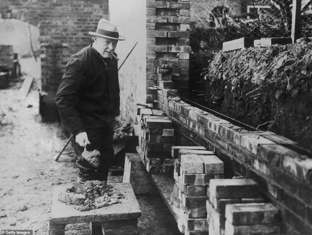 A lesser-known hobby of Sir Winston's was brick-laying, which he used to do in the garden of his Kent home, Chartwell. Between 1925 and 1932, Sir Winston built a wall around part of his garden which still stands today