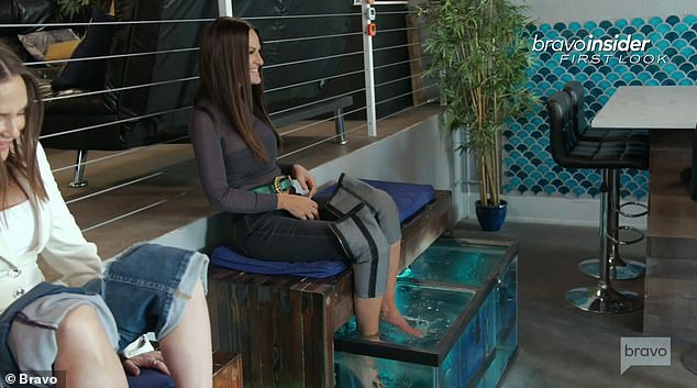 Location:The trio go to a spa together for a fish pedicure, where a certain kind of fish is in a tank that consumes the dead skin cells on your feet