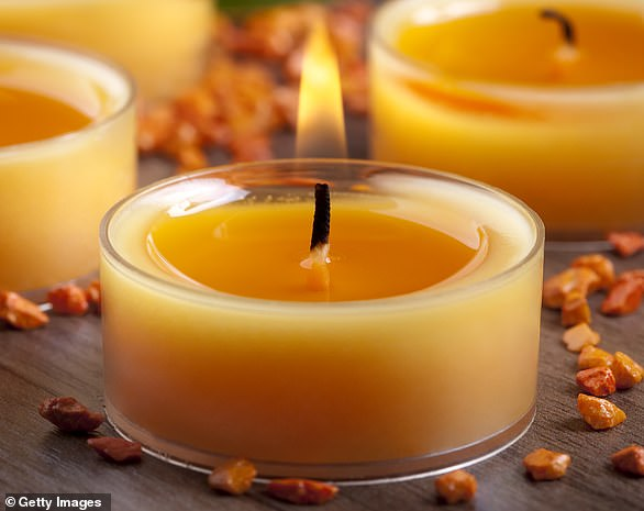Fire services across Britain warned people using candles to be careful to avoid fires