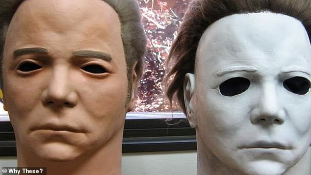 Halloween costume designers chose a Captain Kirk mask based on actor William Shatner from Star Trek and painted it white for the look of Michael Myers