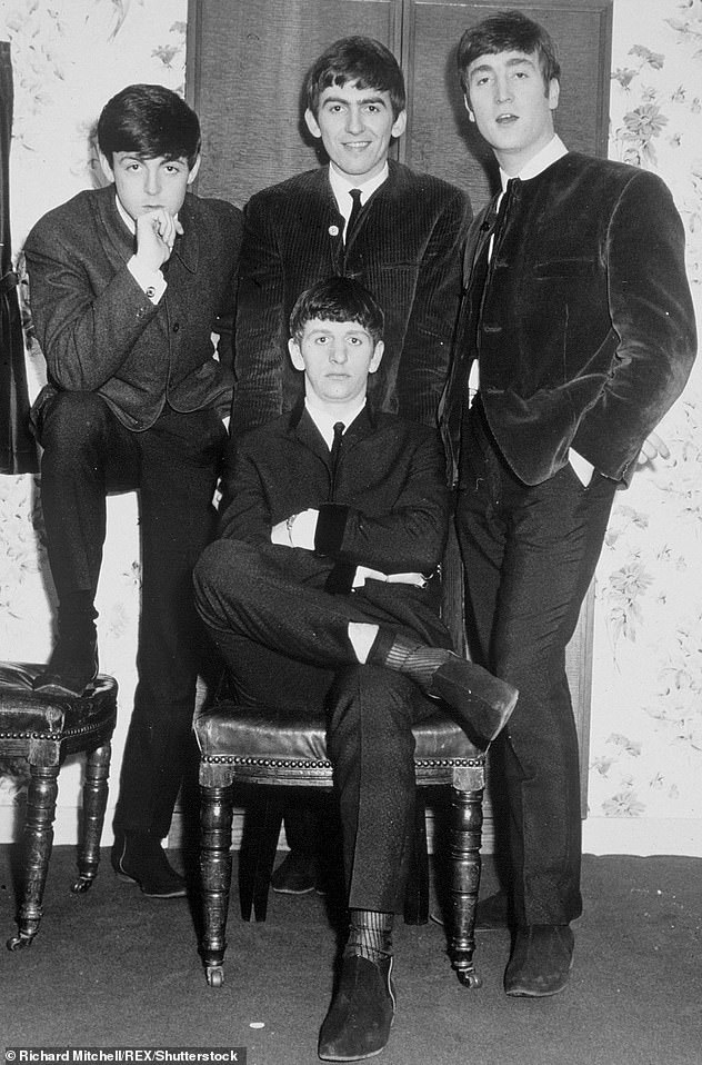 Each time the two bands released a record they would check with each other precisely so as not to compete in the charts (pictured: The Beatles in 1963)