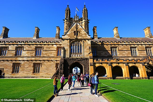 University of Sydney (pictured) said they would require students who want to attend the campus from October 18 to be fully-vaccinated or provide a medical exemption