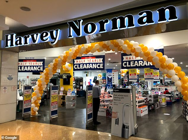 Winners: Meanwhile, competitors like Harvey Norman have seen profits surge during Covid