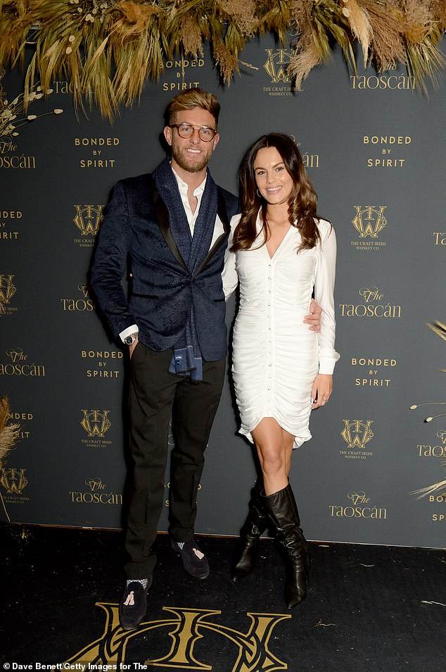 Paired: Harvey and Emily attend the launch of The Craft Irish Whiskey Company's latest whiskey release Wednesday night at The Electric Cinema