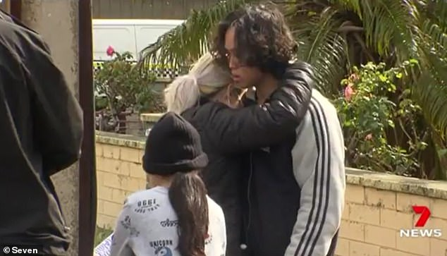'The son, I think, went out and saw his mum on the ground,' an unidentified family member told 7 News Adelaide