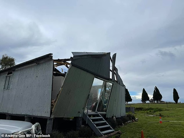 The 'non stop cleaning' will make way for a new property that will be built with more storm-friendly materials and a stronger frame to withstand strong winds (pictured, storm damage)