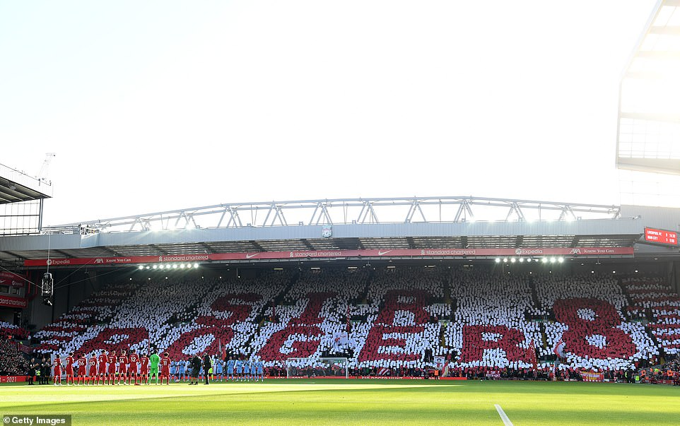 The Kop paid tribute to the club's legendary striker with a stunning mosaic before kick-off against Man City on October 3