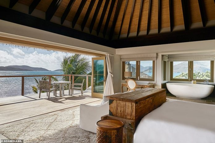 The Mangrove Villa, pictured, gets its name from its surroundings – it is nestled in the mangroves