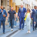 Conor McGregor is flanked by FOUR security guards in Rome with fiancée Dee Devlin 💥👩💥